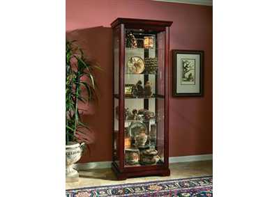 Cherry Two Way Sliding Door Curio