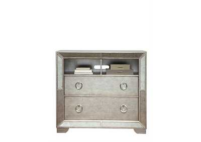 Image for Farrah Metallic Silver 2 Drawer Media Chest