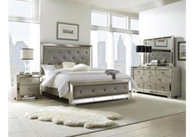Farrah California King Panel Bed w/Dresser and Mirror