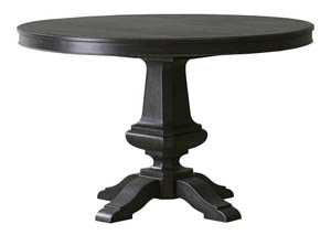 Vintage Tempo Black Round Dining Table w/18