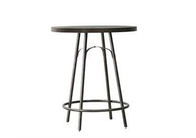 Vintage Tempo Grey Metal Pub Table