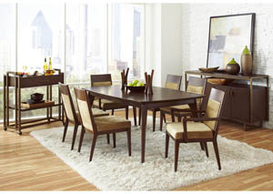Modern Harmony 72' Rectangular Leg Extension Leaf Dining Table w/4 Side Chairs
