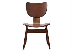 Modern Harmony Wooden Side Chair w/Curved Seat & Back (Set of 2)