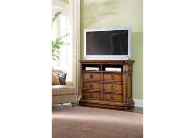 Image for San Mateo Brown 6 Drawer Media Chest