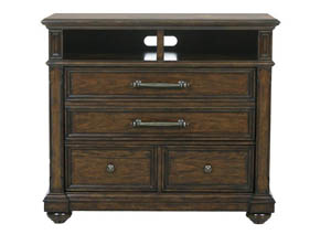 Durango Ridge Brown Media Chest