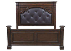Image for Durango Ridge Aged Brandy Upholstered Panel Queen Headboard