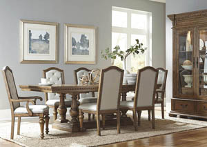 "Image for Stratton 78"" Rectangular Extension Leaf Dining Table w/2 Arm & 4 Side Chairs"