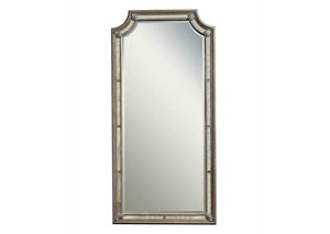 Karissa Weathered Oak Floor Mirror