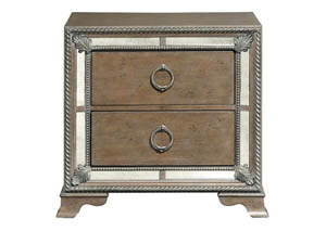 Karissa Weathered Oak Nightstand