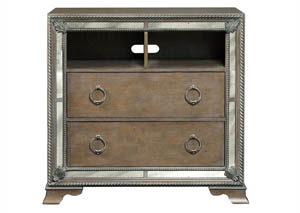 Karissa Weathered Oak Media Chest