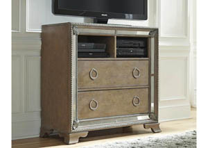 Karissa Media Chest w/2 Open Shelves & 2 Drawers