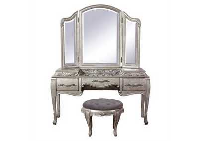 Image for Rhianna Aged Silver 3 Drawer Vanity