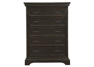 Caldwell Black Drawer Chest