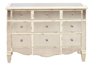 Image for Metallic Mirrored Accent Chest