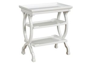 White 3-Tier Table