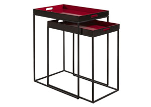Red Nesting Tables