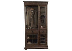 Image for Lindale Brown Curio Armoire