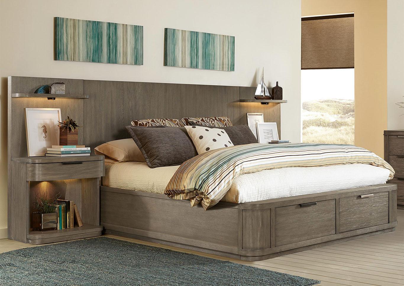Penland\'s Furniture Precision Gray Wash Queen Low Storage ...