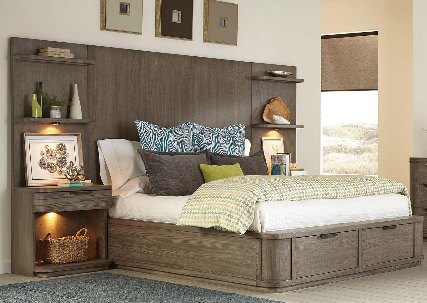 V. Watts Furniture Precision Gray Wash California King Tall ...
