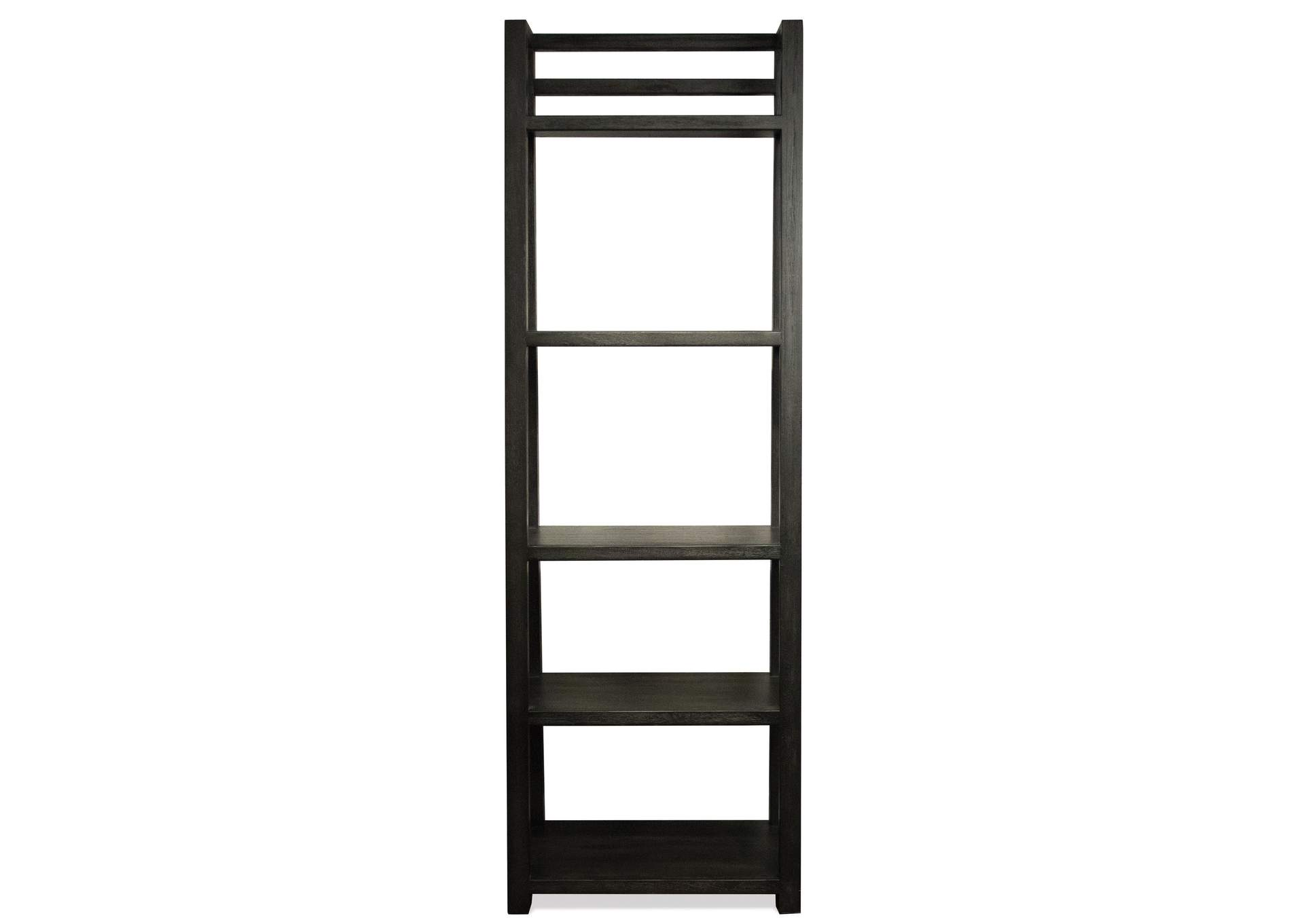 V Watts Furniture Perspectives Black Leaning Bookcase