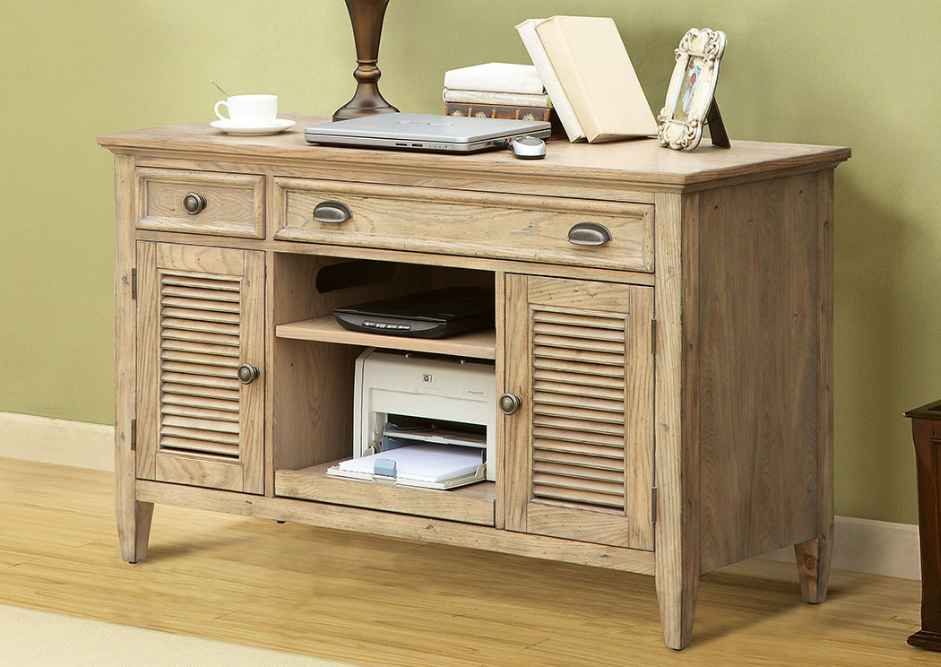 Coventry Weathered Driftwood Credenza Desk,Riverside