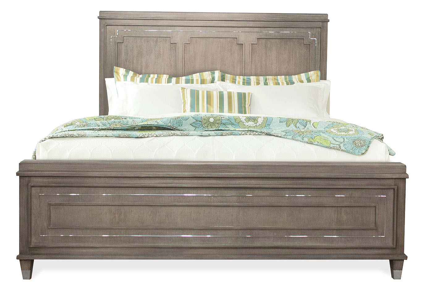 Penland\'s Furniture Dara Two Gray Wash King Panel Bed