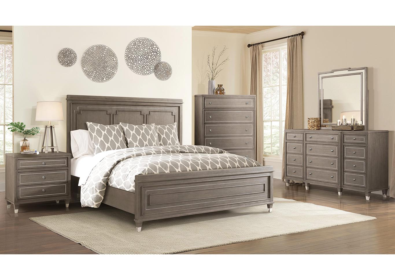 Penland\'s Furniture Dara Two Gray Wash Queen/Full Panel Bed ...