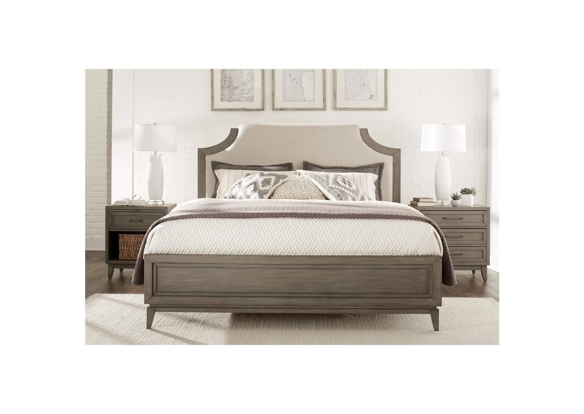 Penland\'s Furniture Vogue Gray Wash King Upholstered Bed