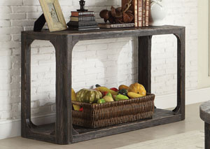 Bellagio Black Weathered Worn Sofa Table