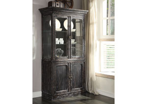 Bellagio Black Weathered Worn China Cabinet