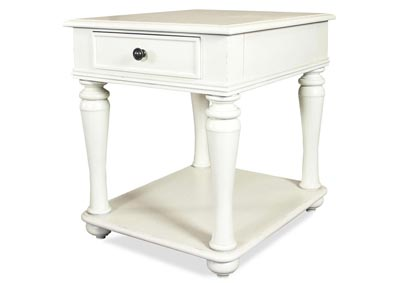 Annalise White End Table