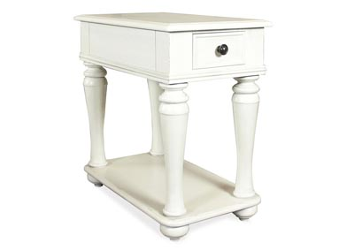 Annalise White Chairside Table