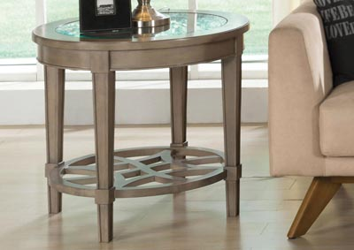 Parkdale Dove Grey End Table