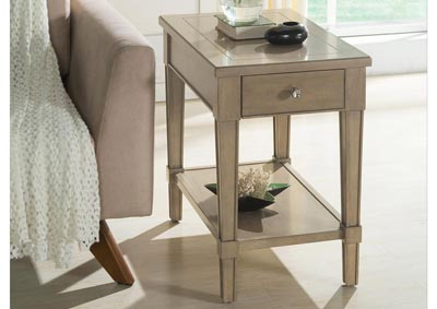Parkdale Dove Grey Chairside Table