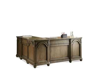 Belmeade Oak L-Desk & Return