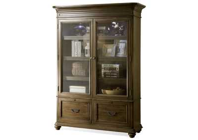 Belmeade Oak Bookcase w/Doors