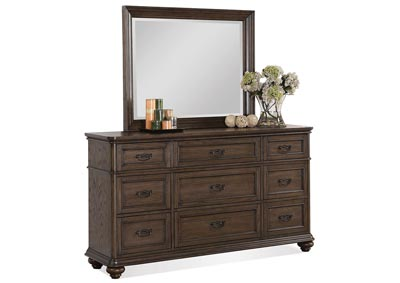 Belmeade Oak 9 Drawer Dresser