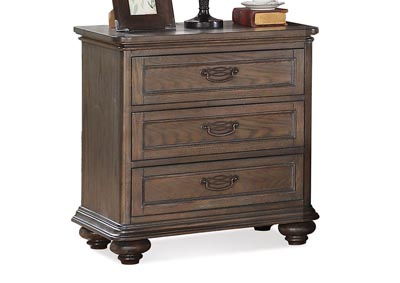 Belmeade Oak 3 Drawer Nightstand