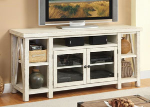 Aberdeen Weathered Worn White TV Console
