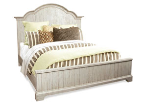 Aberdeen Weathered Worn White Full Panel Bed