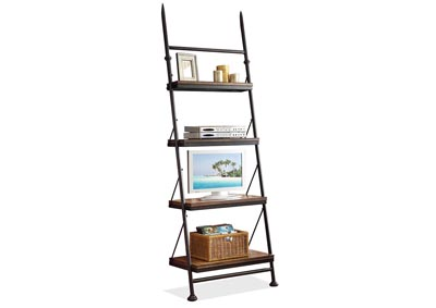 Camden Town Leaning Bookcase w/4 Fixed Shelves