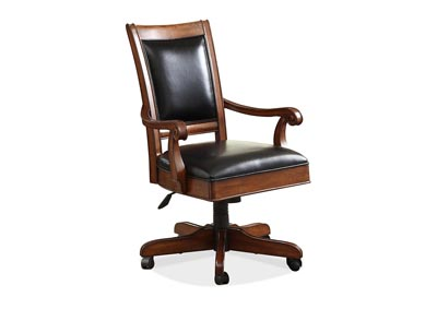 Image for Bristol Court Upholstered Swivel Desk Chair w/Adjustable Height