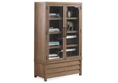Mirabelle Cabinet Bookcase w/Glass Door & Adjustable Shelves