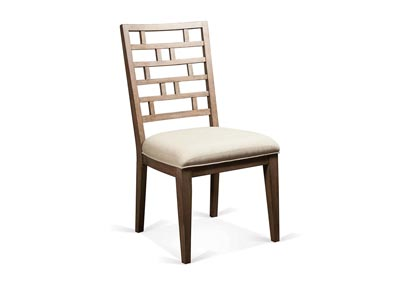 Mirabell Curved Lattice Back Upholstered Chair (Set of 2)