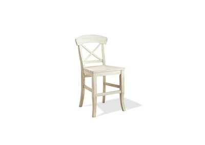 Regan White X-Back Counter Stool (2 per Order)