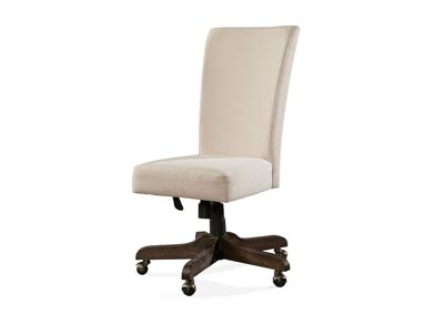 Perspectives Brown Upholstered Desk Chair