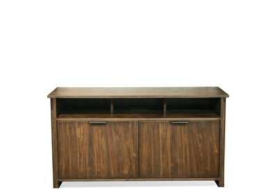 Perspectives Brown Entertainment Console