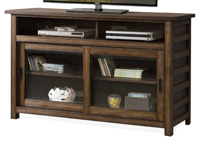 Perspectives Brown 54 Inch TV Console