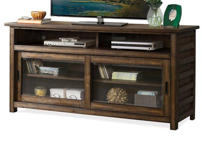 Perspectives Brown 74 Inch TV Console