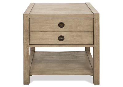 Perspectives Beige End Table